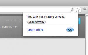 Unblock Insecure Content in Google Chrome