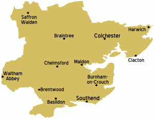 Map Of Essex - Cash for Gold Essex | Sell Gold to Goldealers Essex