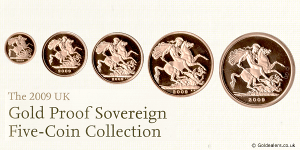 2009 Gold Proof Sovereign Set1