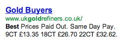UK Gold Refiners Misleading Advertising ukgoldrefiners.co.uk