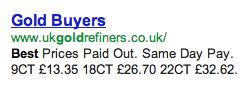 UK Gold Refiners Misleading Advertising ukgoldrefiners.co.uk