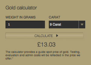 British Gold Refinery Gold Calculator