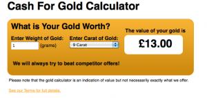 TGS cash4mygold.co.uk misleading online calculator
