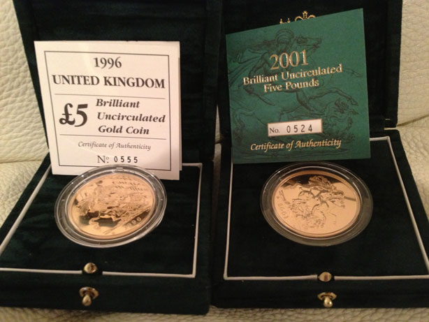 5Pounds Brilliant Uncirculated Boxed